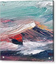 Wave Mountain Acrylic Print