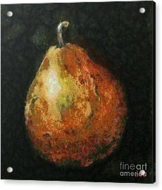One Pear Acrylic Print by Dragica  Micki Fortuna