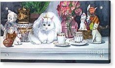 One Real Cat And Several Faux Kitties Acrylic Print