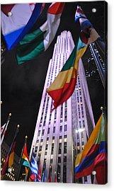 One Rockefeller Center Acrylic Print by Jacqueline M Lewis