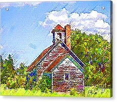 One Room Schoolhouse Acrylic Print