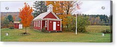 One-room Schoolhouse In Austerlitz Acrylic Print by Panoramic Images