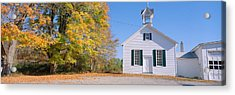One-room Schoolhouse In Upstate New Acrylic Print by Panoramic Images