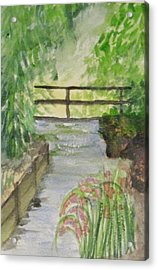 Acrylic Print featuring the painting One Secret Place by Trilby Cole