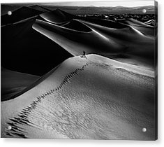 One Set Of Footprints Acrylic Print by Simon Chenglu
