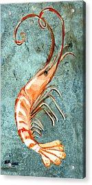 One Shrimp Acrylic Print by Elaine Hodges