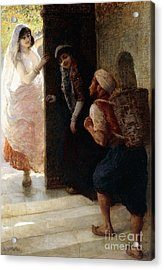 One Thousand And One Nights, The Porter Of Baghdad Acrylic Print by Edwin Lord Weeks