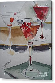 Acrylic Print featuring the painting One Too Many by Sandra Strohschein
