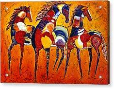 Acrylic Print featuring the painting One Tribe by Jennifer Godshalk