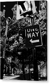 One Way To Go Acrylic Print by Gulf Island Photography and Images