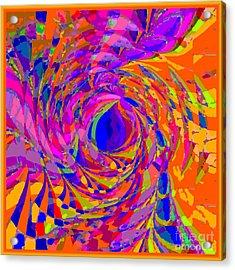 Acrylic Print featuring the digital art One World by Loko Suederdiek