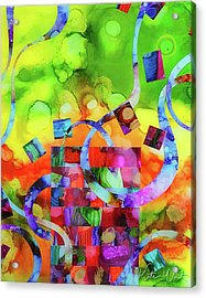 Acrylic Print featuring the mixed media Ones Who Flew Away by Kate Word