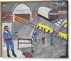 Acrylic Print featuring the painting Onieda Coal Mine by Jeffrey Koss