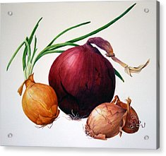 Onion Medley Acrylic Print by Margit Sampogna