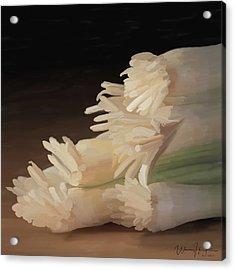 Onions 01 Acrylic Print by Wally Hampton