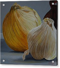 Onions And Garlic Acrylic Print