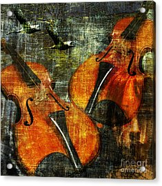 Only Music Heals A Broken Heart Acrylic Print