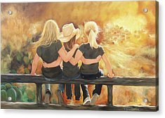 Only Sisters Know Acrylic Print