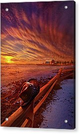 Acrylic Print featuring the photograph Only This Moment In Between Before And After by Phil Koch