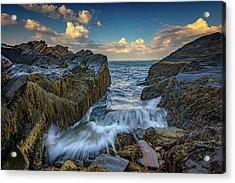 Onrushing Tides Acrylic Print by Rick Berk