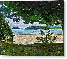 Acrylic Print featuring the painting Onset, Ma by Joan Reese