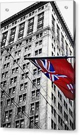 Ontario Flag Acrylic Print