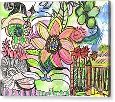 Oodles Of Doodles Acrylic Print by Anne-Elizabeth Whiteway