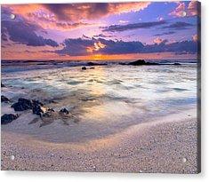 O'oma Beach Sunset Acrylic Print