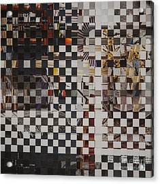 Acrylic Print featuring the mixed media Op Art 101 by Jan Bickerton