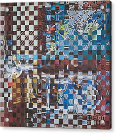 Acrylic Print featuring the mixed media Op Art 102 by Jan Bickerton