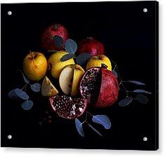 Opal Apples And Pomegranates Acrylic Print