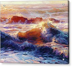Acrylic Print featuring the painting Opalescent Sea by Steve Henderson