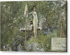 Open Air Studio Acrylic Print by Carl Larsson