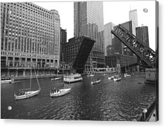 Open Bridges In Chicago Acrylic Print