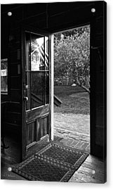 Open Door B-w Acrylic Print by Christopher Holmes