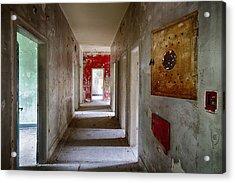 Open Doors - Abandoned Building Acrylic Print by Dirk Ercken