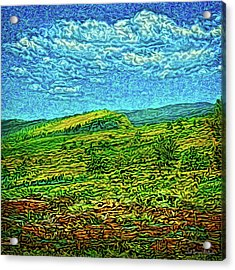 Acrylic Print featuring the digital art Open Field Dreams by Joel Bruce Wallach