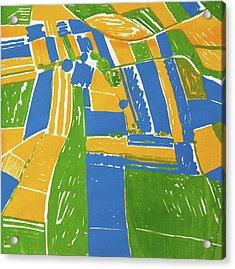 Open Field Yellow Acrylic Print