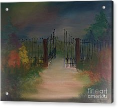 Acrylic Print featuring the painting Open Gate by Denise Tomasura