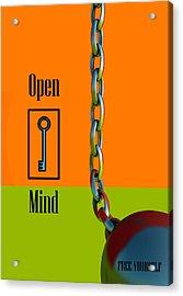 Open Mind Acrylic Print by Richard Rizzo