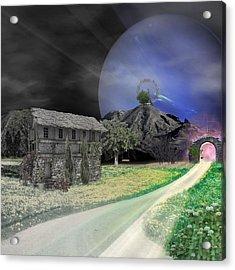 Open Portal Acrylic Print by Ally  White