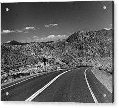 Open Road - Nevada Acrylic Print by Ann Tracy