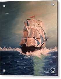 Acrylic Print featuring the painting Open Seas by Denise Tomasura