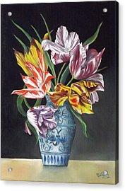 Open Tulips Acrylic Print