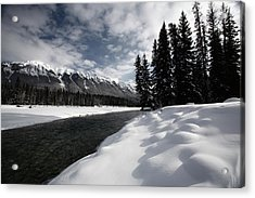 Open Water In Winter Acrylic Print