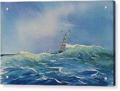 Open Waters Acrylic Print by Laura Lee Zanghetti