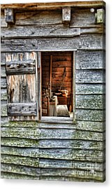 Open Window In Pioneer Home Acrylic Print