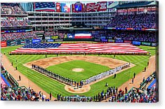 Opening Day At Globe Life Park Acrylic Print by Stephen Stookey