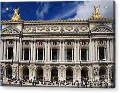 Opera Garnier. Paris. France Acrylic Print by Bernard Jaubert