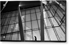 Opera House - Oslo, Norway - Black And White Street Photography Acrylic Print